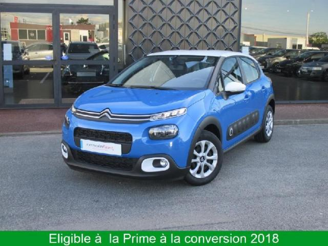voiture occasion citroen c3 bluehdi 100ch feel s s 2017 diesel 28500 vernouillet eure et loir. Black Bedroom Furniture Sets. Home Design Ideas
