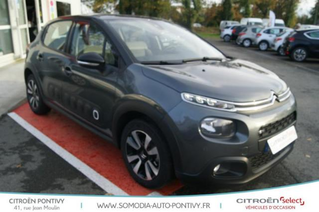 voiture occasion citroen c3 puretech 82ch shine 2017 essence 56300 pontivy morbihan. Black Bedroom Furniture Sets. Home Design Ideas