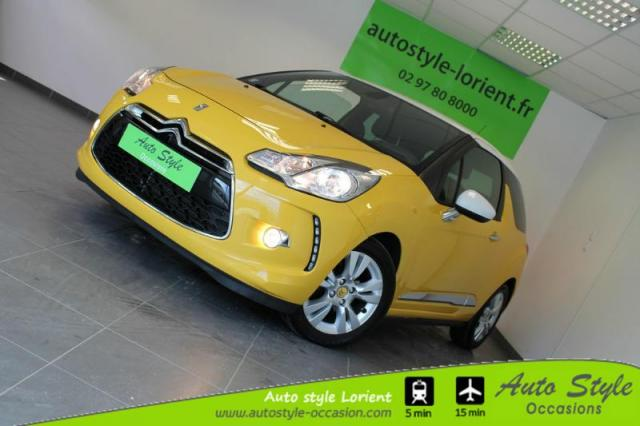voiture occasion citroen ds3 1 6 e hdi90 airdream so chic bmp6 2012 diesel 56600 lanester. Black Bedroom Furniture Sets. Home Design Ideas