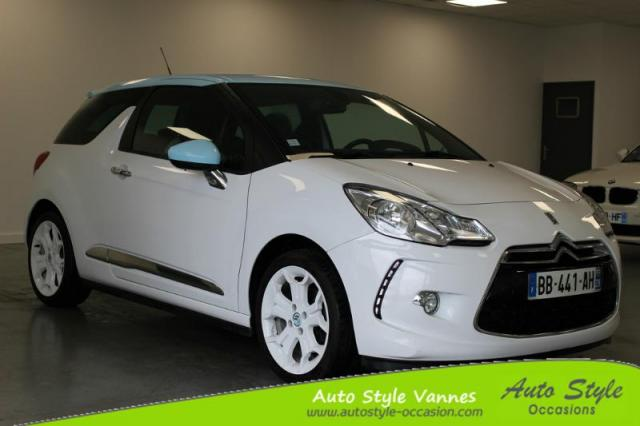 voiture occasion citroen ds3 1 6 thp 150ch sport chic 2010 essence 56450 theix morbihan. Black Bedroom Furniture Sets. Home Design Ideas