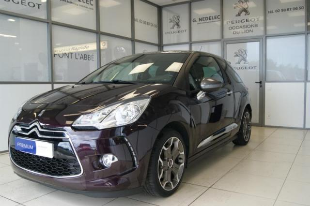 voiture occasion citroen ds3 thp 155ch sport chic 2014 essence 29120 pont l 39 abb finist re. Black Bedroom Furniture Sets. Home Design Ideas