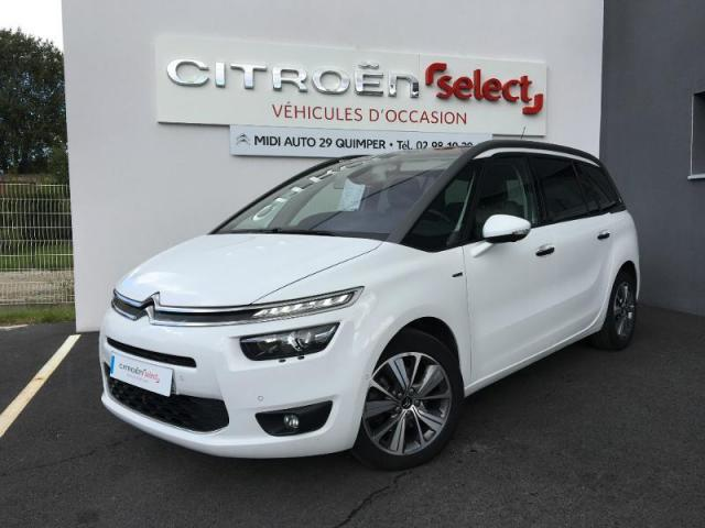 voiture occasion citroen grand c4 picasso bluehdi 150ch exclusive s s 2014 diesel 29000 quimper. Black Bedroom Furniture Sets. Home Design Ideas