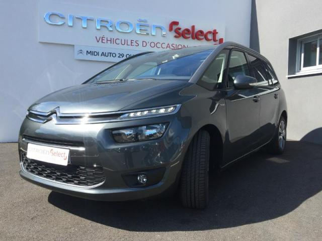 voiture occasion citroen grand c4 picasso thp 165ch exclusive eat6 2016 essence 29000 quimper. Black Bedroom Furniture Sets. Home Design Ideas