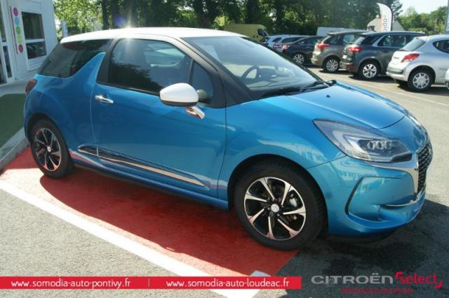 voiture occasion citroen ds3 bluehdi 100ch so chic s s 2017 diesel 56300 pontivy morbihan. Black Bedroom Furniture Sets. Home Design Ideas