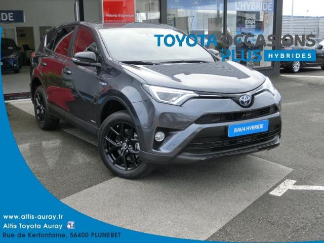 voiture occasion toyota rav4 197 hybride black edition 2wd cvt 2018 hybride 56400 pluneret. Black Bedroom Furniture Sets. Home Design Ideas
