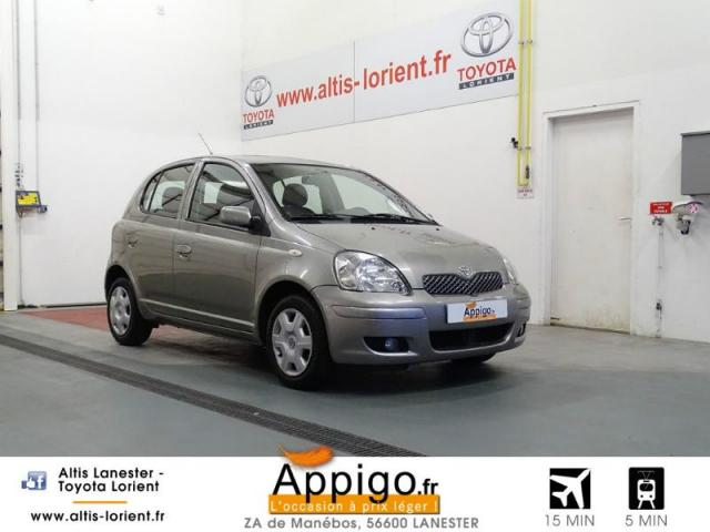 voiture occasion toyota yaris 65 vvt i luna pack 5p 2005 essence 56600 lanester morbihan. Black Bedroom Furniture Sets. Home Design Ideas