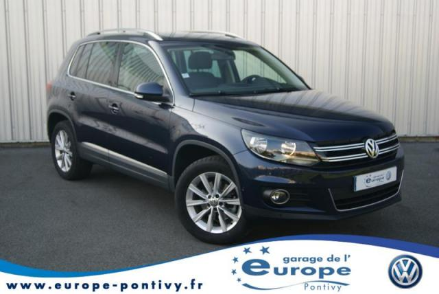 voiture occasion volkswagen tiguan 1 4 tsi 122ch bluemotion technology carat 2013 essence 56300. Black Bedroom Furniture Sets. Home Design Ideas