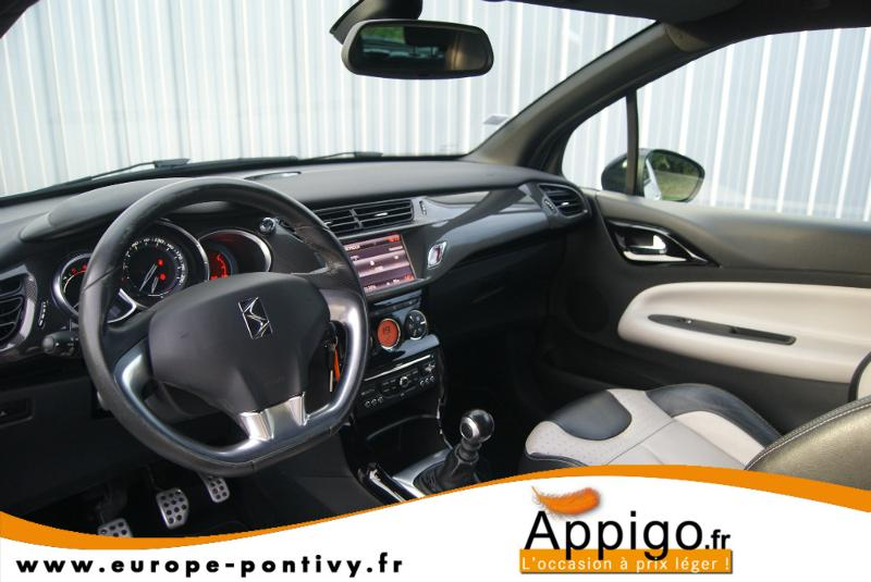 voiture occasion citroen ds3 1 6 hdi110 fap sport chic 2010 diesel 56300 pontivy morbihan. Black Bedroom Furniture Sets. Home Design Ideas